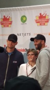 Roddick and Blake with young fan
